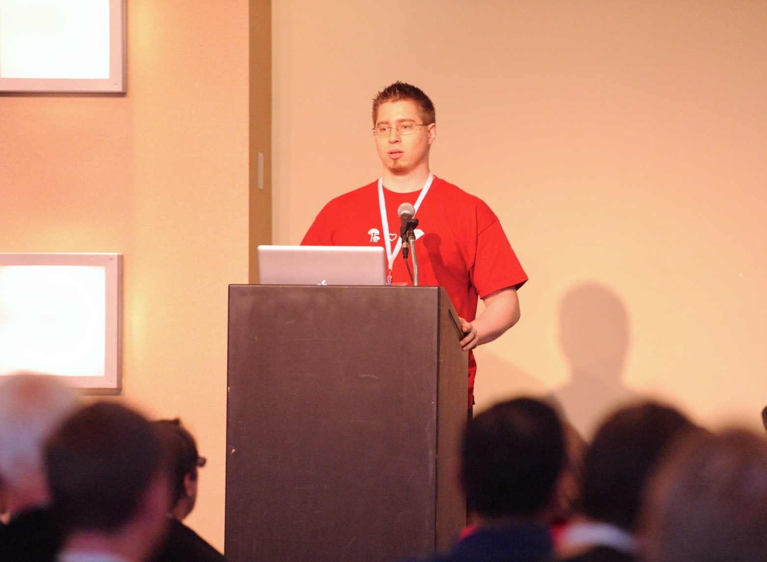 An image of me presenting at SCRC12